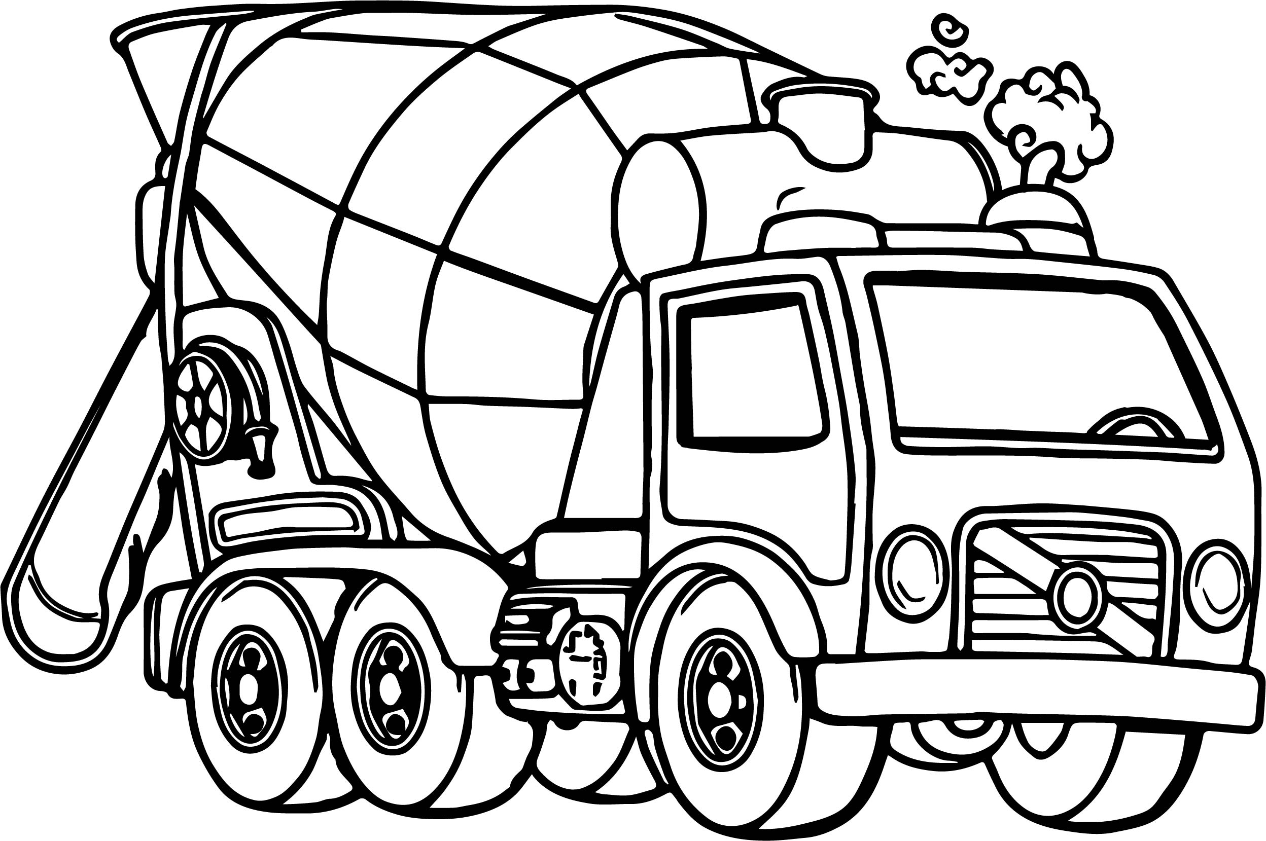 truck coloring pages to print cement mixer truck coloring page free printable coloring print pages to truck coloring
