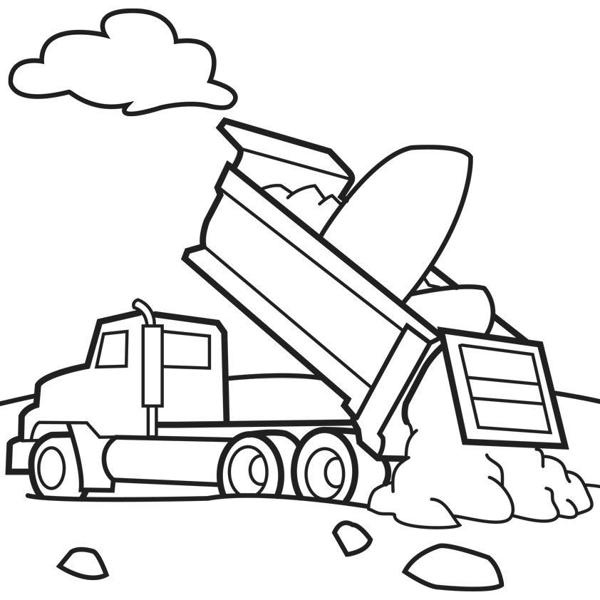 truck coloring pages to print garbage truck coloring pages free coloring home truck coloring print pages to