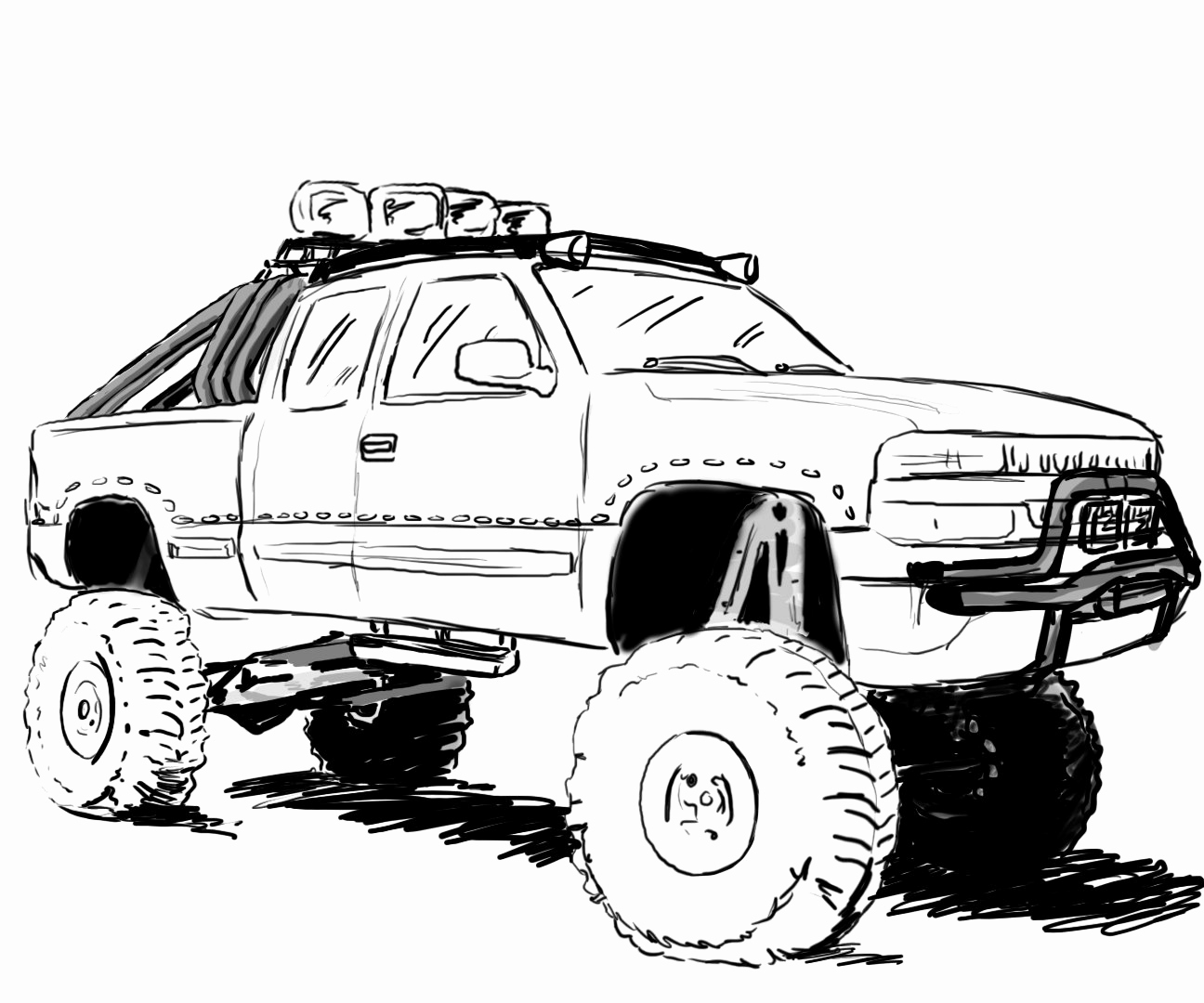 truck coloring pages to print lifted truck coloring pages at getcoloringscom free coloring print truck pages to