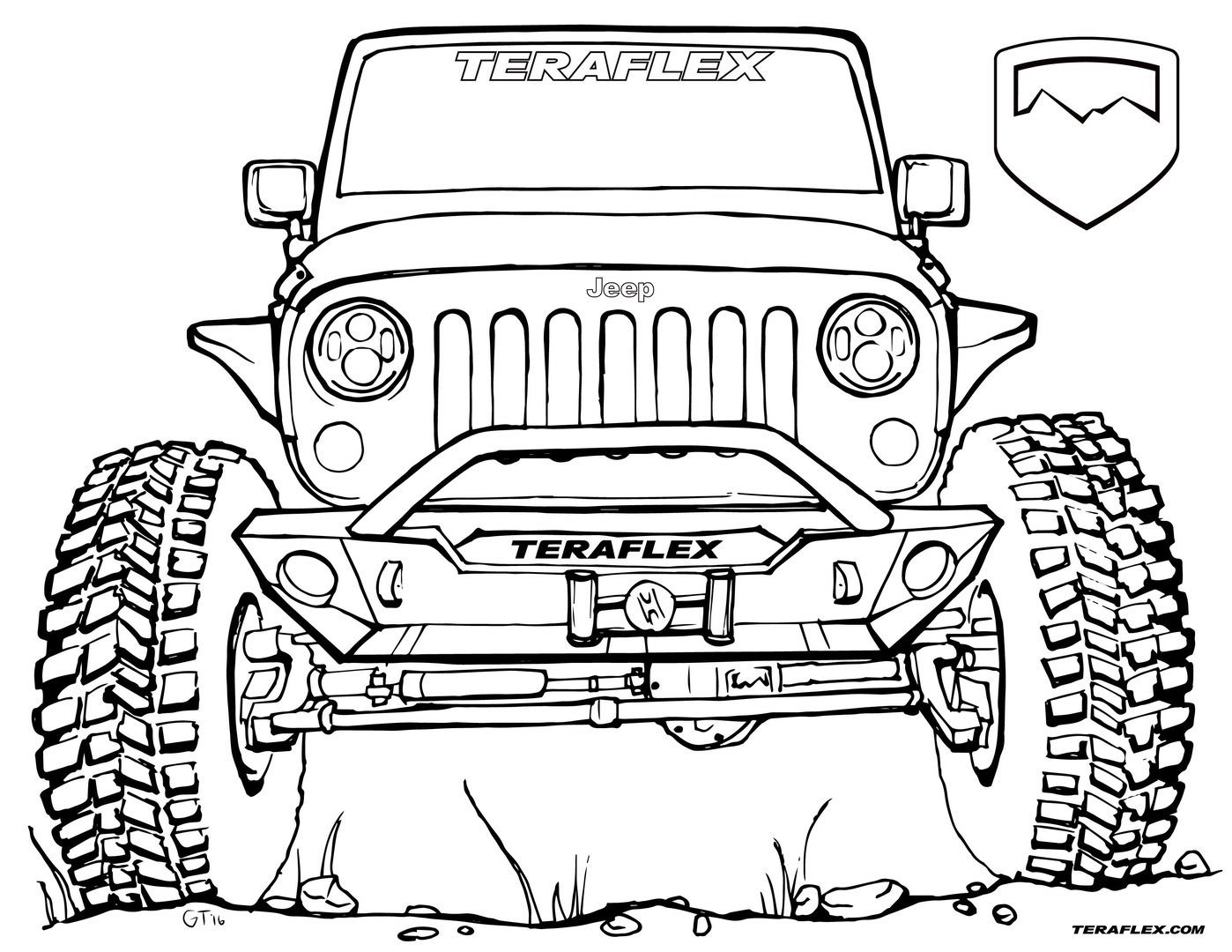 truck coloring pages to print lifted truck coloring pages at getcoloringscom free pages print truck coloring to