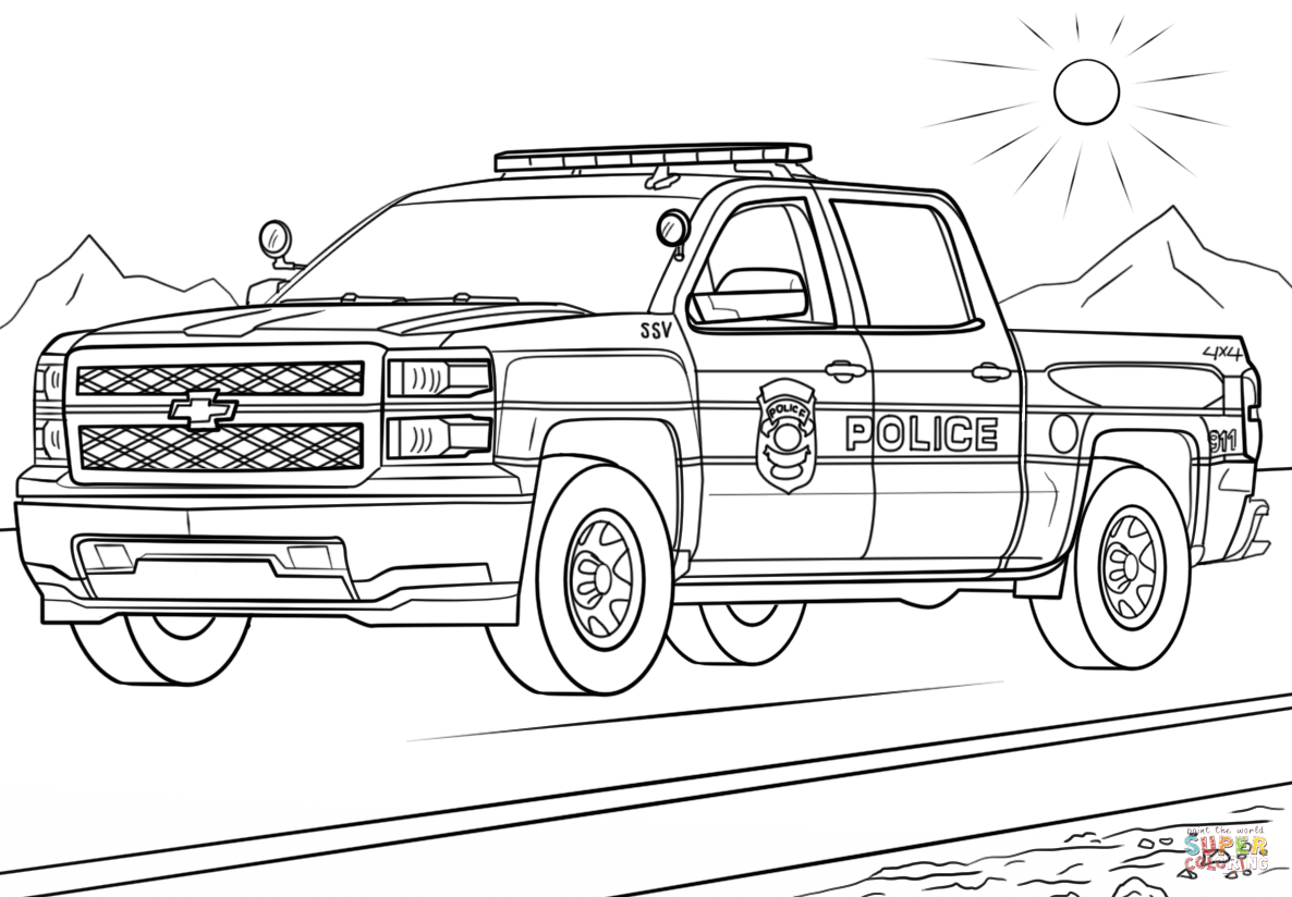 truck coloring pages to print police truck coloring page free printable coloring pages pages print to coloring truck