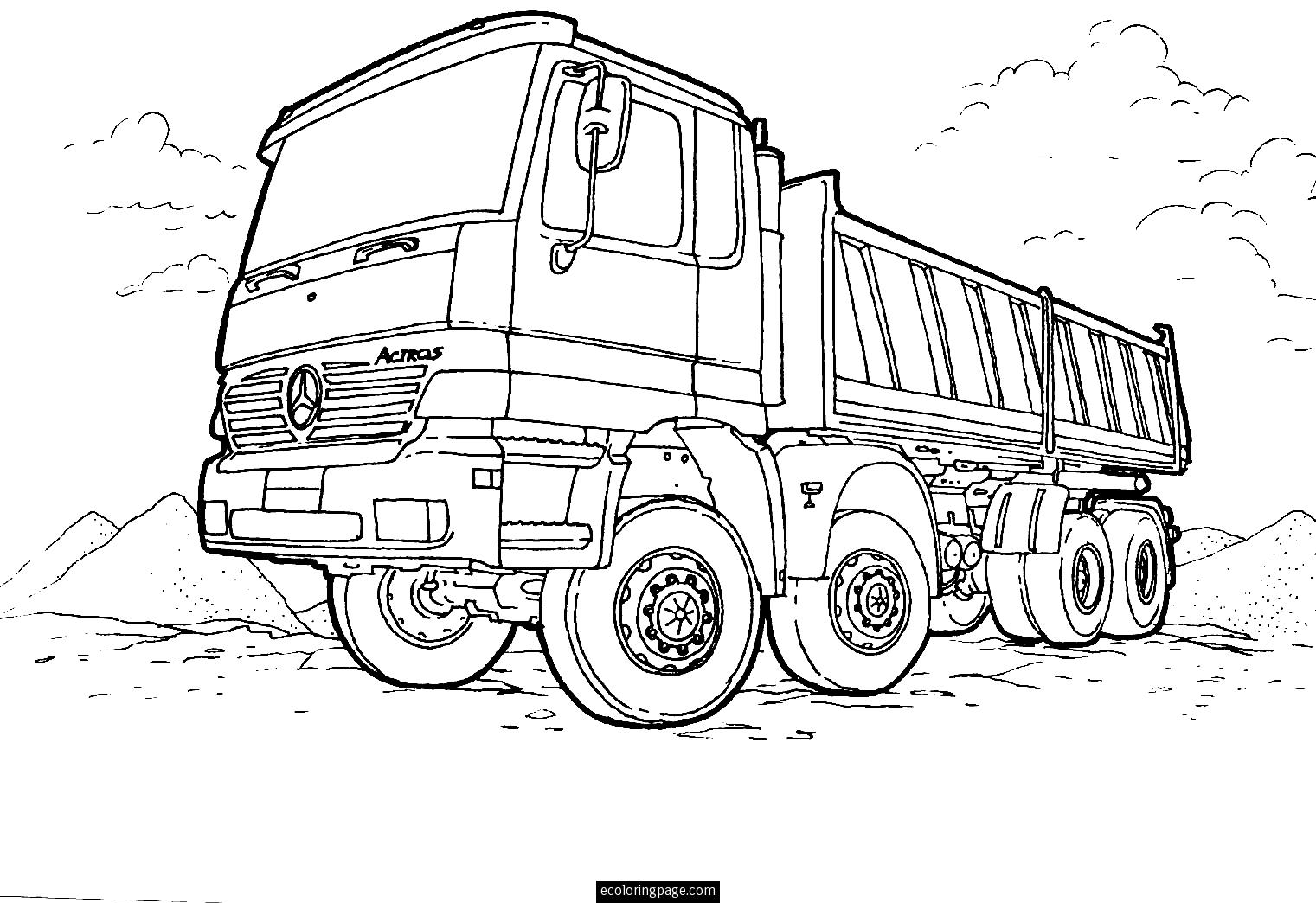 truck coloring pages to print semi truck coloring pages to download and print for free print coloring to pages truck
