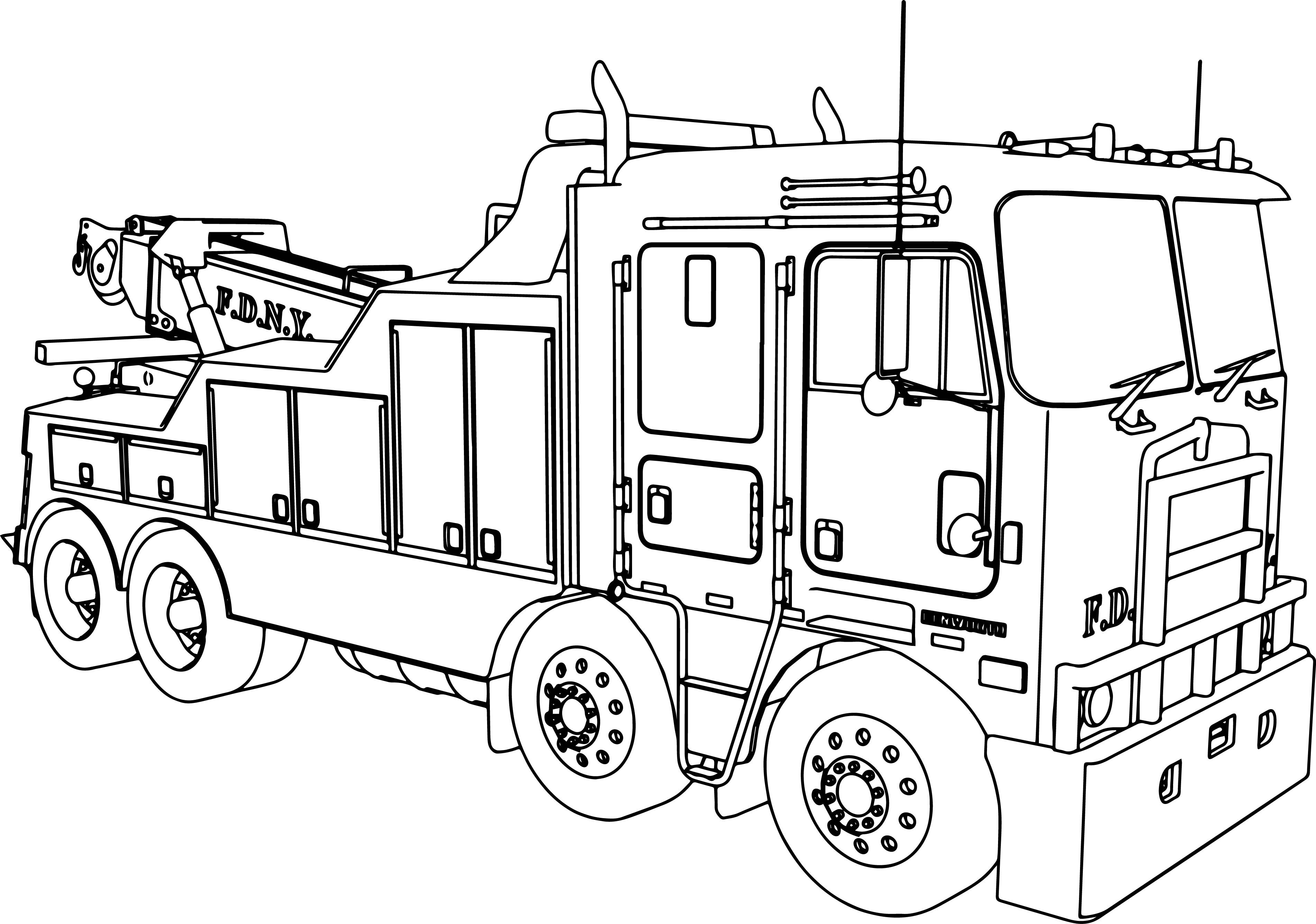 truck coloring pages to print simple fire truck coloring pages at getcoloringscom print pages to truck coloring