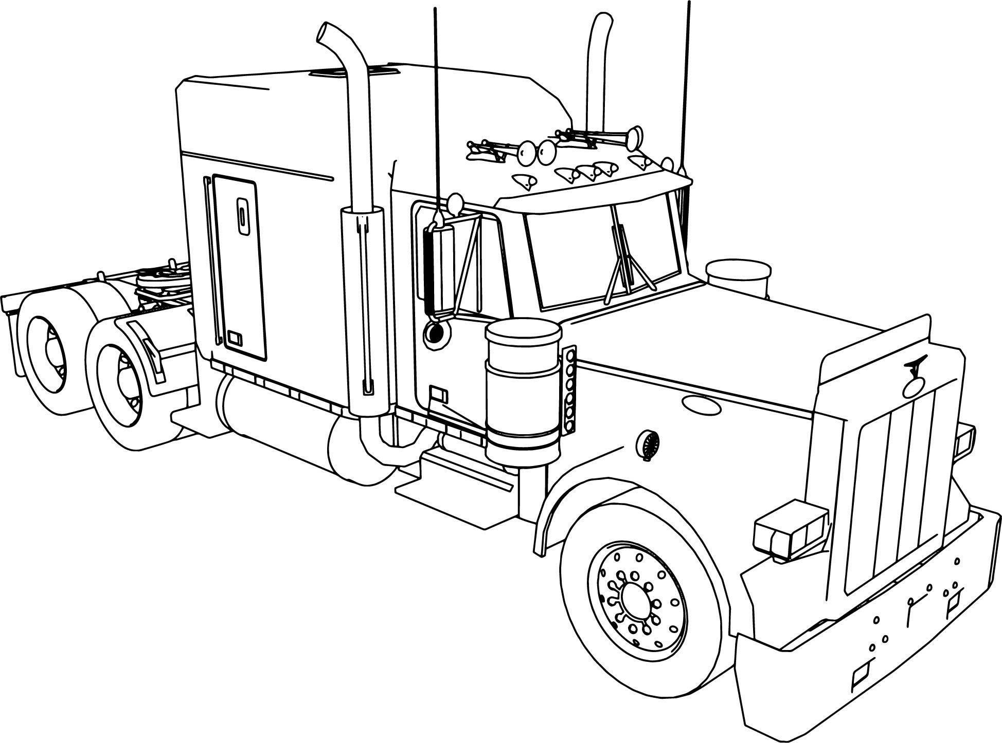 truck with trailer coloring pages an extra long haul semi truck coloring page download coloring trailer truck with pages