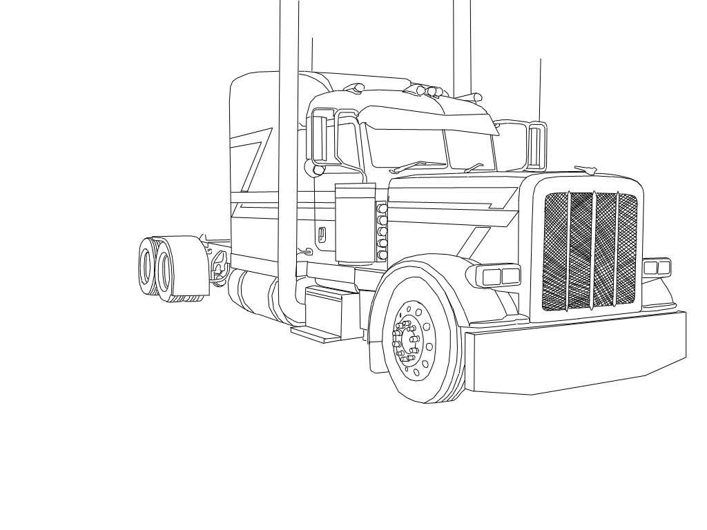 truck with trailer coloring pages coloring pages of cars and trucks frais best international pages trailer coloring truck with