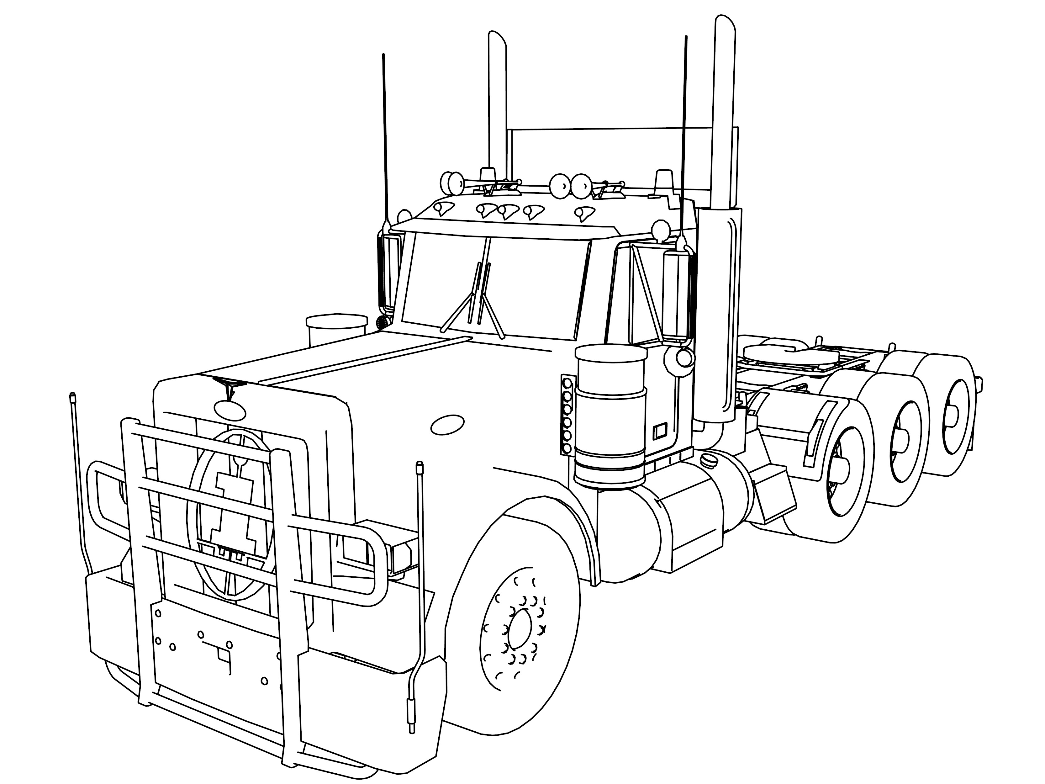 truck with trailer coloring pages ford rs free coloring pages with trailer truck coloring pages