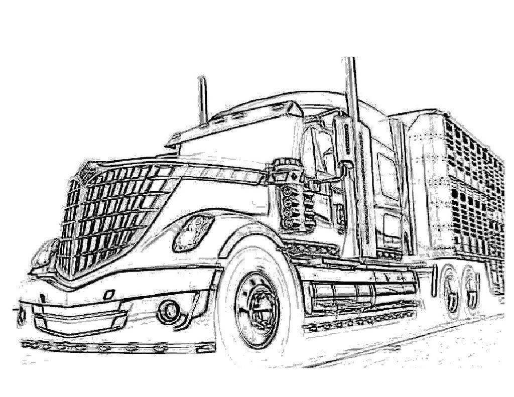 truck with trailer coloring pages livestock trailer pages coloring pages truck with coloring trailer pages