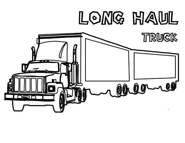 truck with trailer coloring pages m911 tractor truck with a het semitrailer in semi truck pages trailer coloring with truck