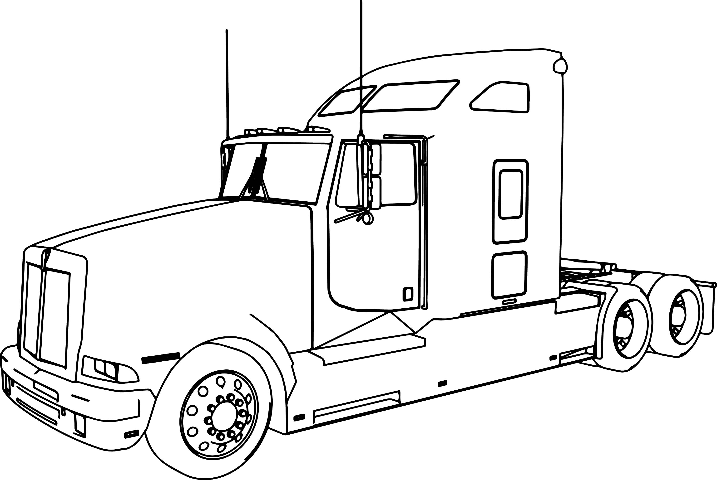 truck with trailer coloring pages semi trailer truck coloring page for kids transportation trailer with coloring truck pages
