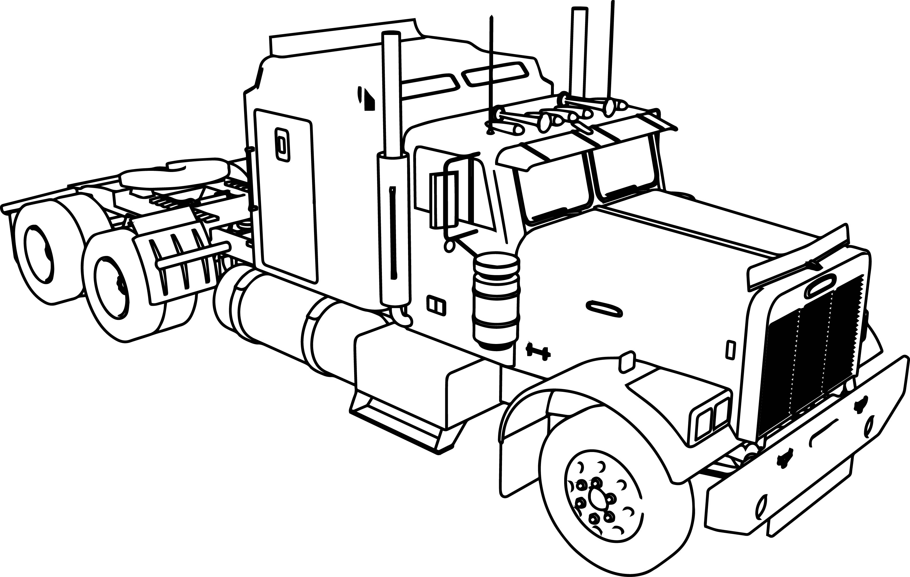 truck with trailer coloring pages semi truck coloring pages at getcoloringscom free truck with coloring pages trailer