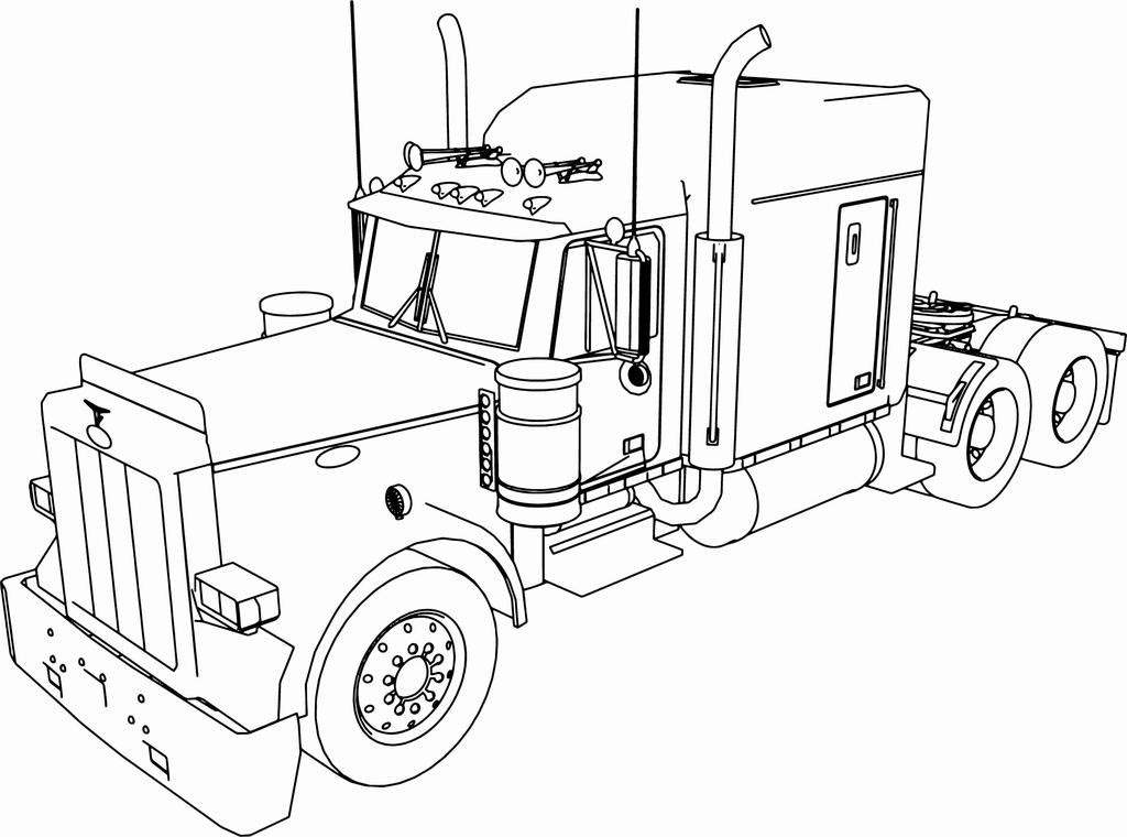 truck with trailer coloring pages semi truck coloring pages to download and print for free pages truck coloring with trailer