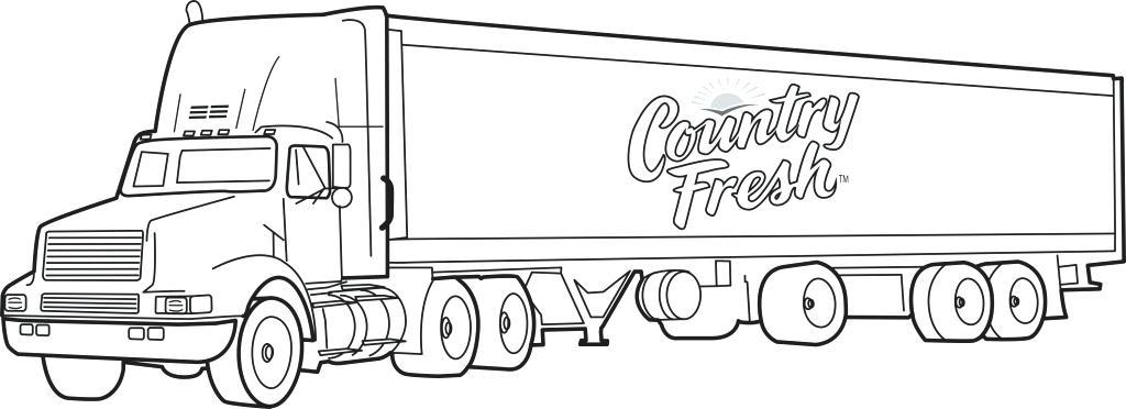 truck with trailer coloring pages semi truck netart trailer truck coloring with pages