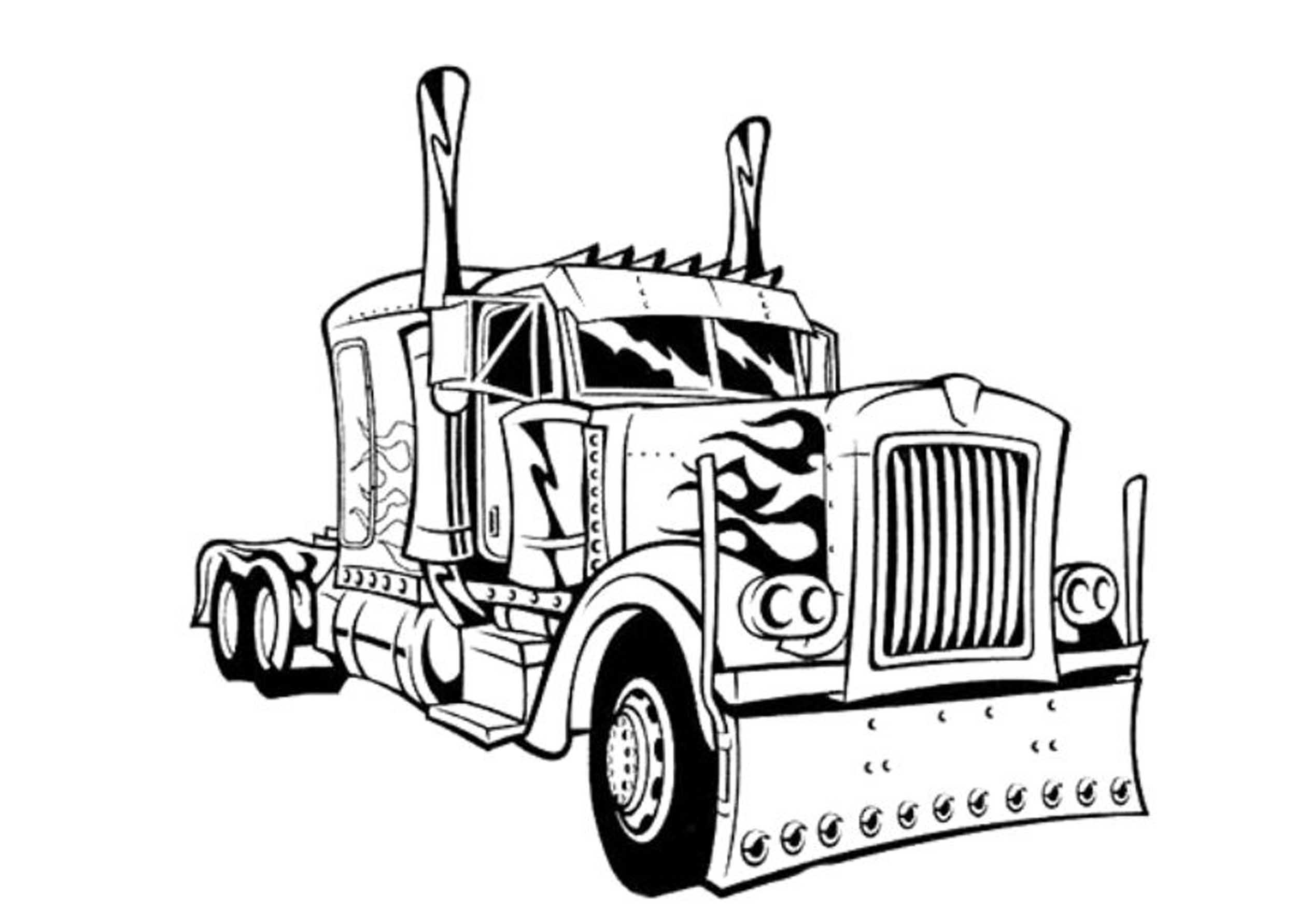 truck with trailer coloring pages single axle semi trailer dump truck coloring page kids with coloring truck pages trailer