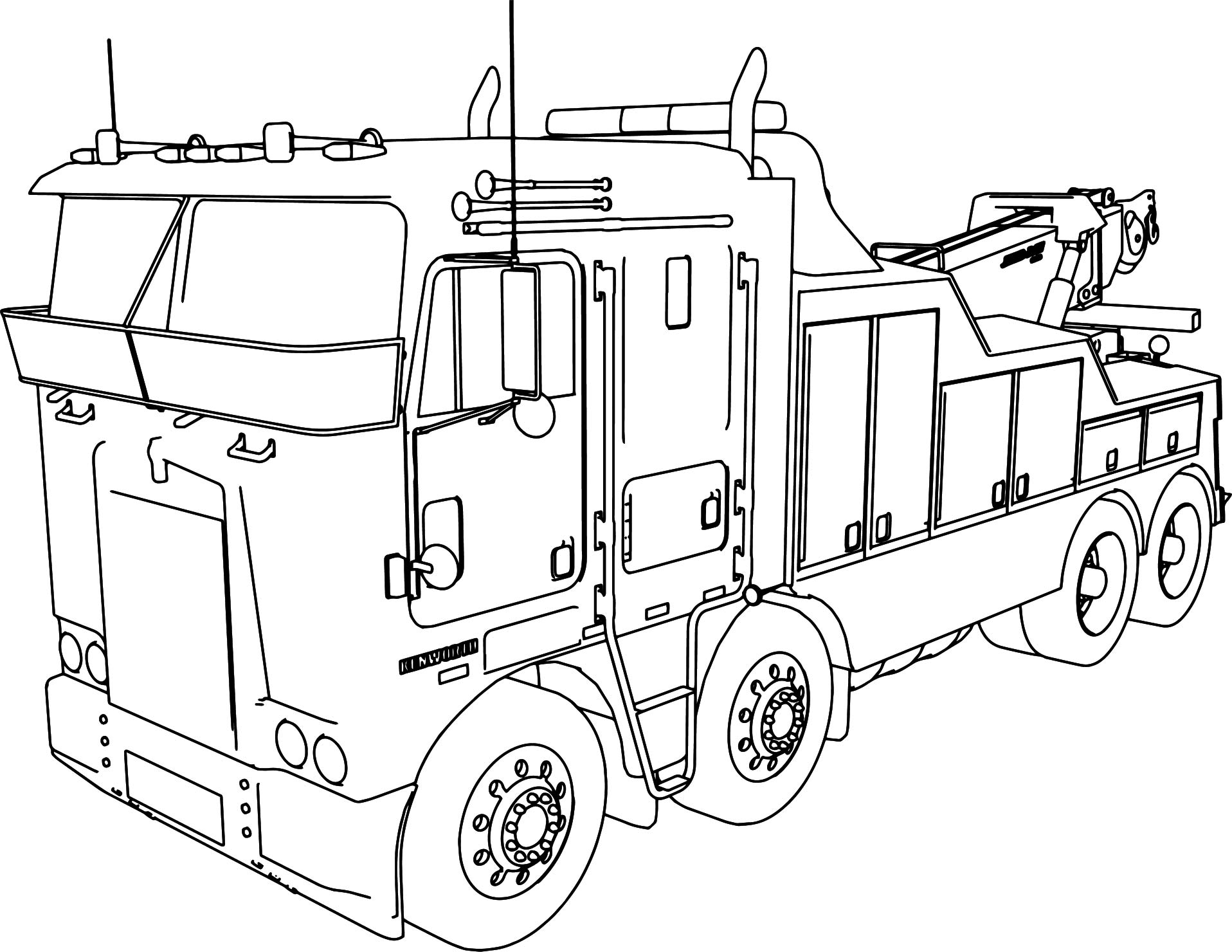 truck with trailer coloring pages tractor trailer drawing at getdrawings free download coloring trailer with truck pages