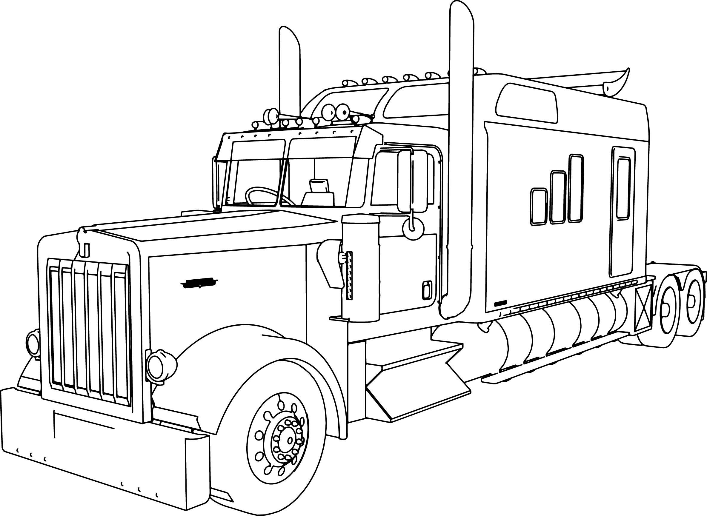 truck with trailer coloring pages tractor trailer drawing at paintingvalleycom explore with coloring truck trailer pages