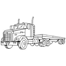 truck with trailer coloring pages tractor trailer sketch at paintingvalleycom explore truck coloring trailer with pages