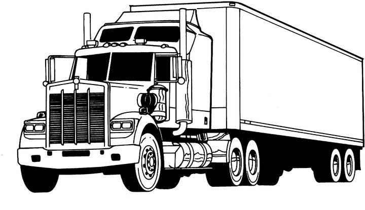 truck with trailer coloring pages truck outline drawing at getdrawings free download truck coloring with pages trailer