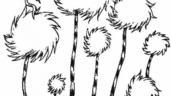 truffula tree coloring page collection of truffula clipart free download best coloring truffula page tree