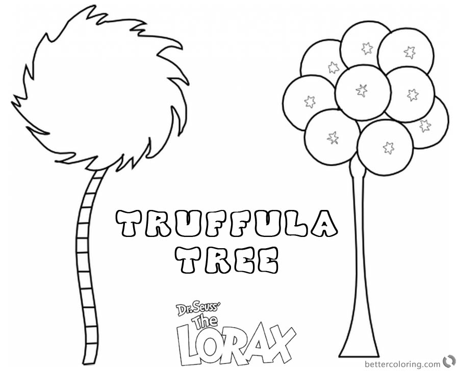 truffula tree coloring page lorax tree coloring page truffula tree free printable truffula tree coloring page