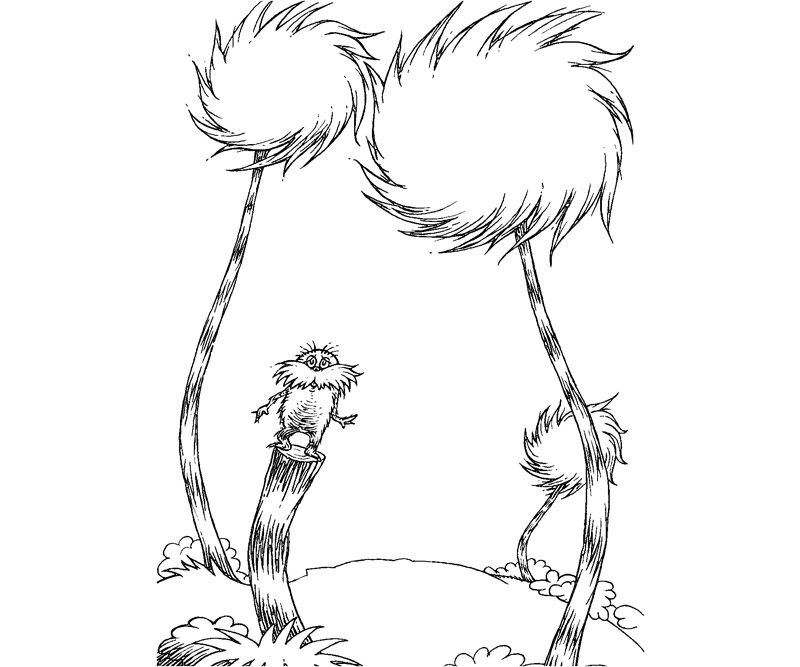 truffula tree coloring page simple truffula tree template lorax dr seuss coloring tree coloring page truffula