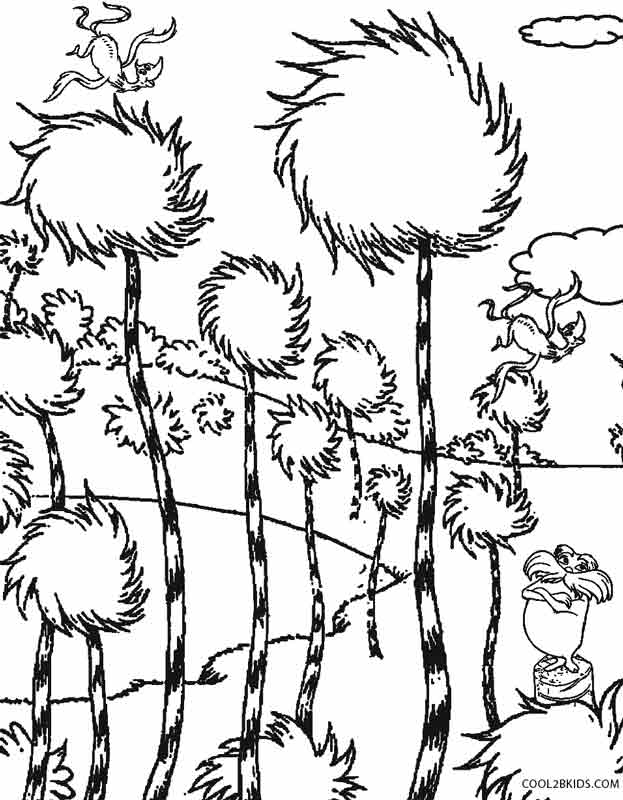 truffula tree coloring page truffula tree coloring for kids 3 preschool and homeschool tree page coloring truffula