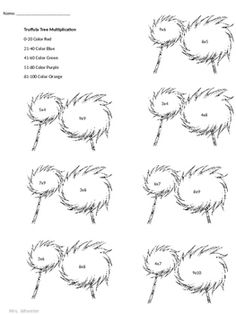 truffula tree coloring page truffula tree cupcake toppers the lorax birthday party page coloring truffula tree