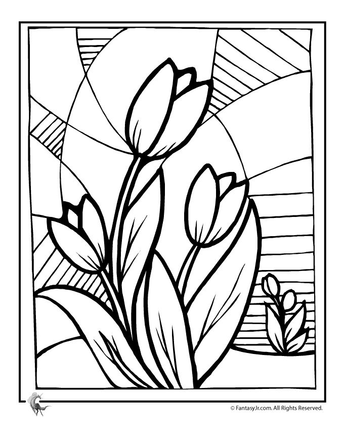 tulip flower coloring pages beautiful tulip flower coloring page kids play color flower tulip coloring pages