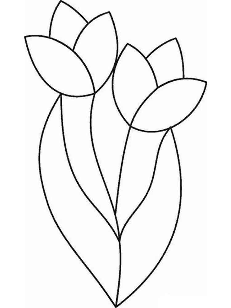 tulip flower coloring pages tulip coloring pages download and print tulip coloring pages tulip coloring flower pages 1 1