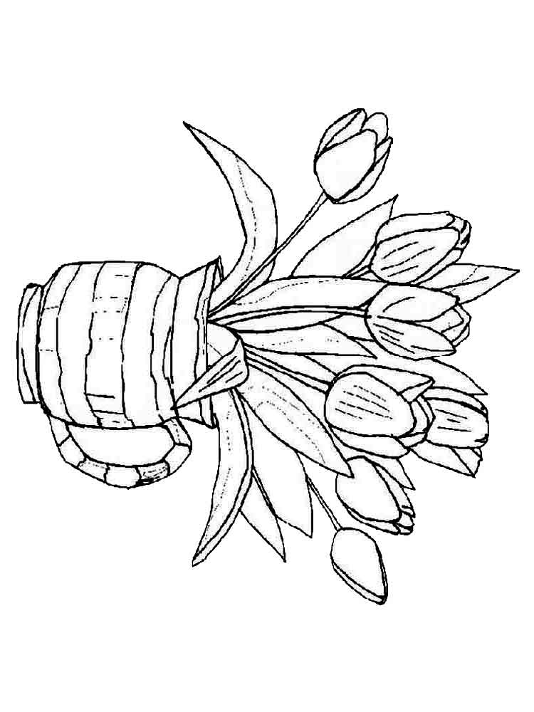 tulip flower coloring pages tulip coloring pages free printable coloring pages for kids flower pages coloring tulip
