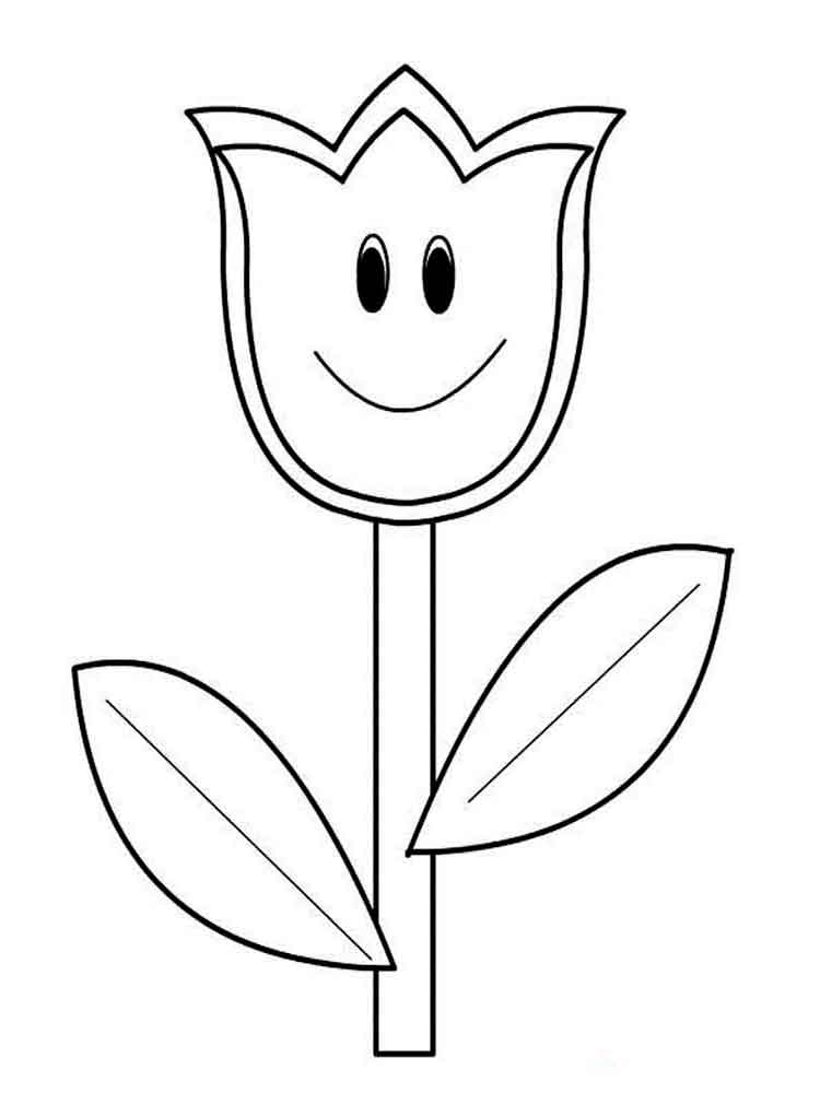 tulip flower coloring pages tulips coloring pages flower coloring pages insect flower tulip coloring pages