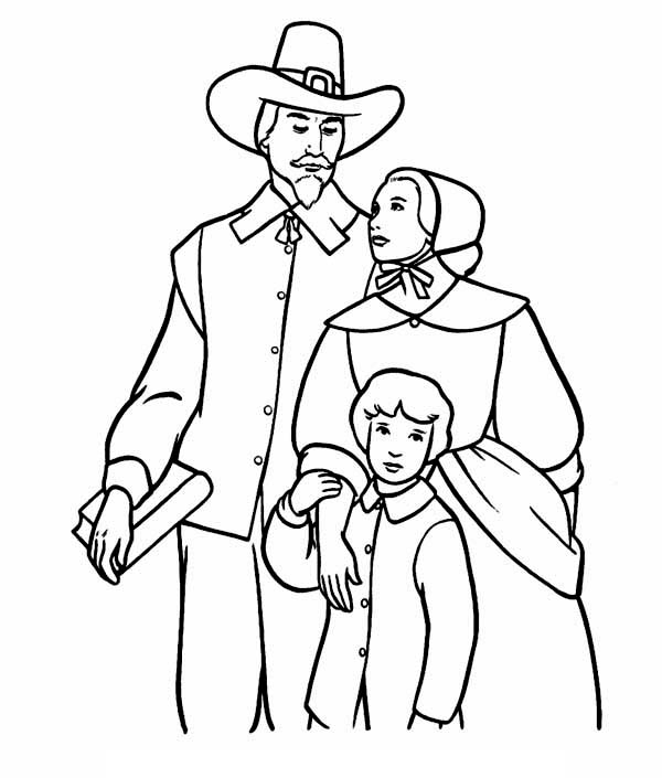 turkey and pilgrim coloring pages a pilgrim family on thanksgiving day coloring page pages and coloring turkey pilgrim