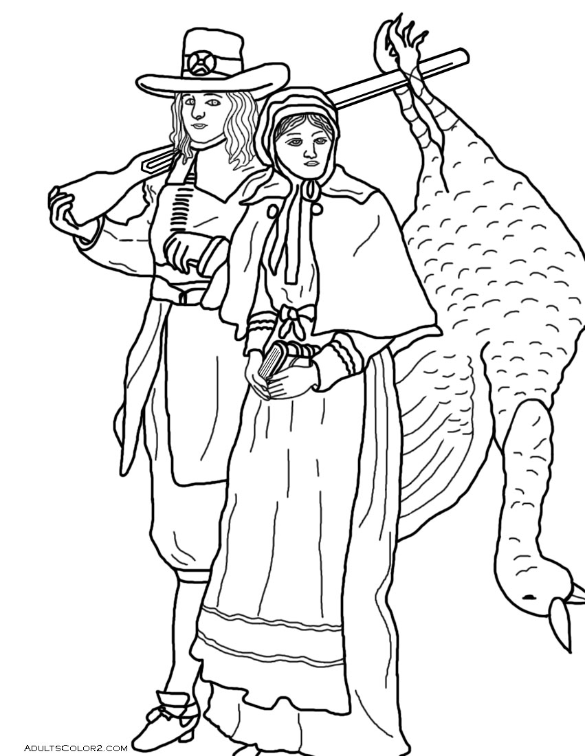 turkey and pilgrim coloring pages thanksgiving day coloring page sheets pilgrim boy with a pilgrim turkey and coloring pages