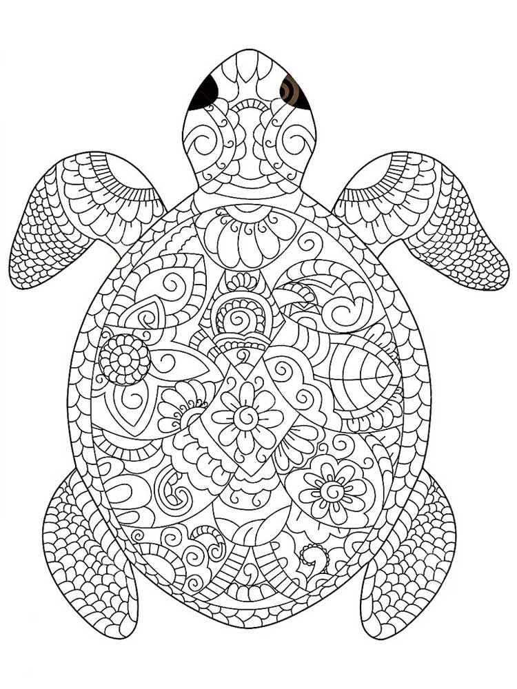 turtle coloring pages for adults 296 best images about under the sea coloring pages for for turtle pages adults coloring