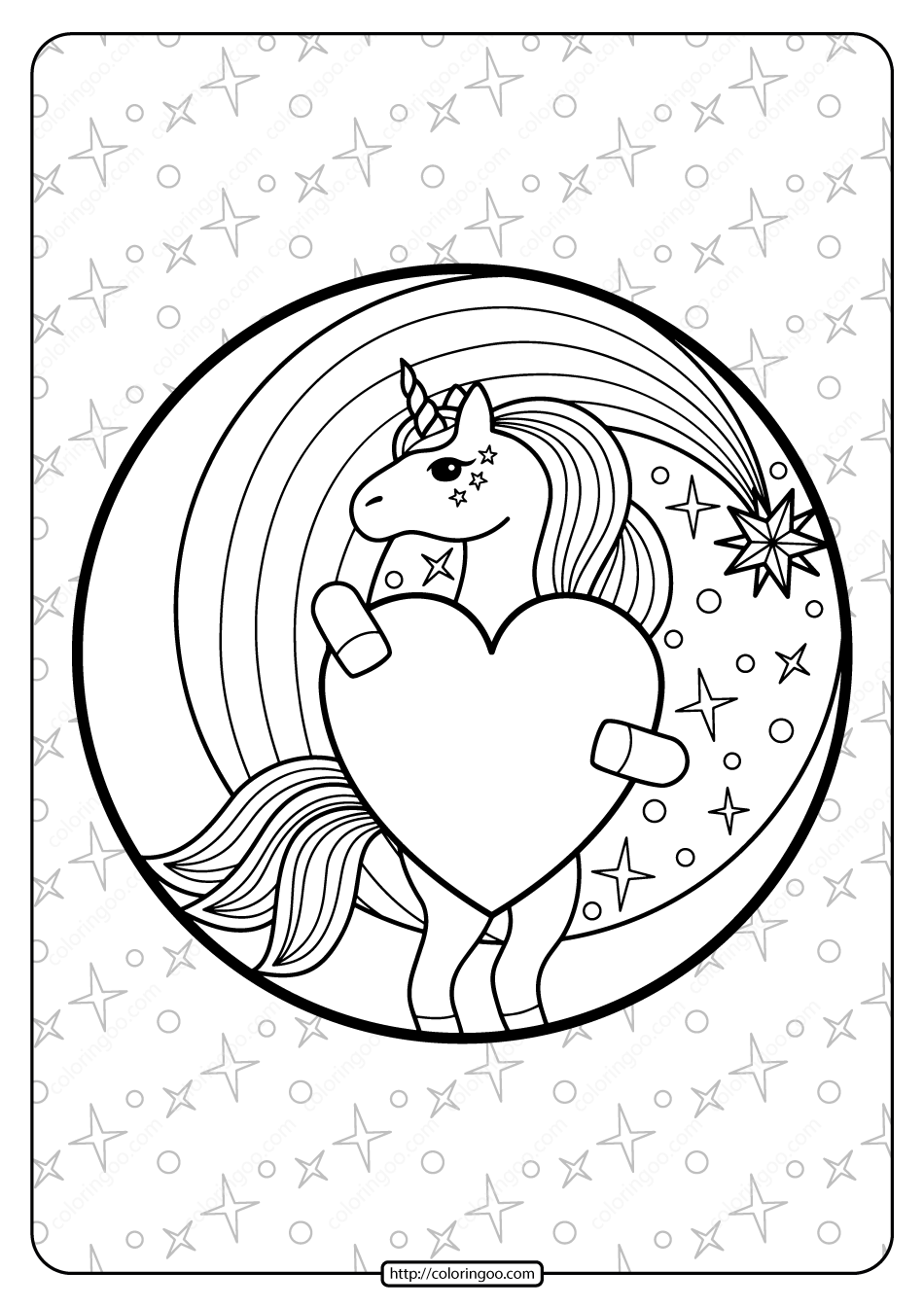 unicorn heart coloring pages malvorlage zum herunterladen aus dem malbuch i heart pages heart unicorn coloring