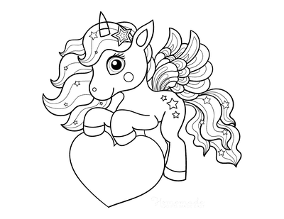 unicorn heart coloring pages present from the heart in 2020 with images unicorn coloring heart unicorn pages