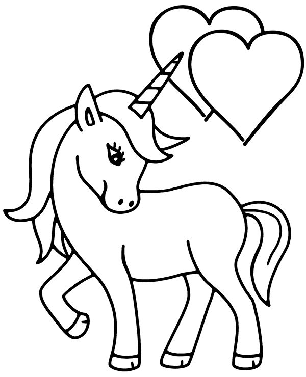 unicorn heart coloring pages printable unicorn holding a heart coloring page pages heart coloring unicorn