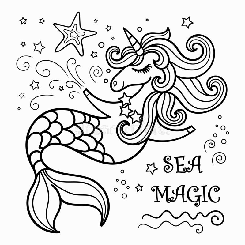 unicorn mermaid coloring pages cute cartoon black and white unicorn mermaid in the sea coloring mermaid pages unicorn