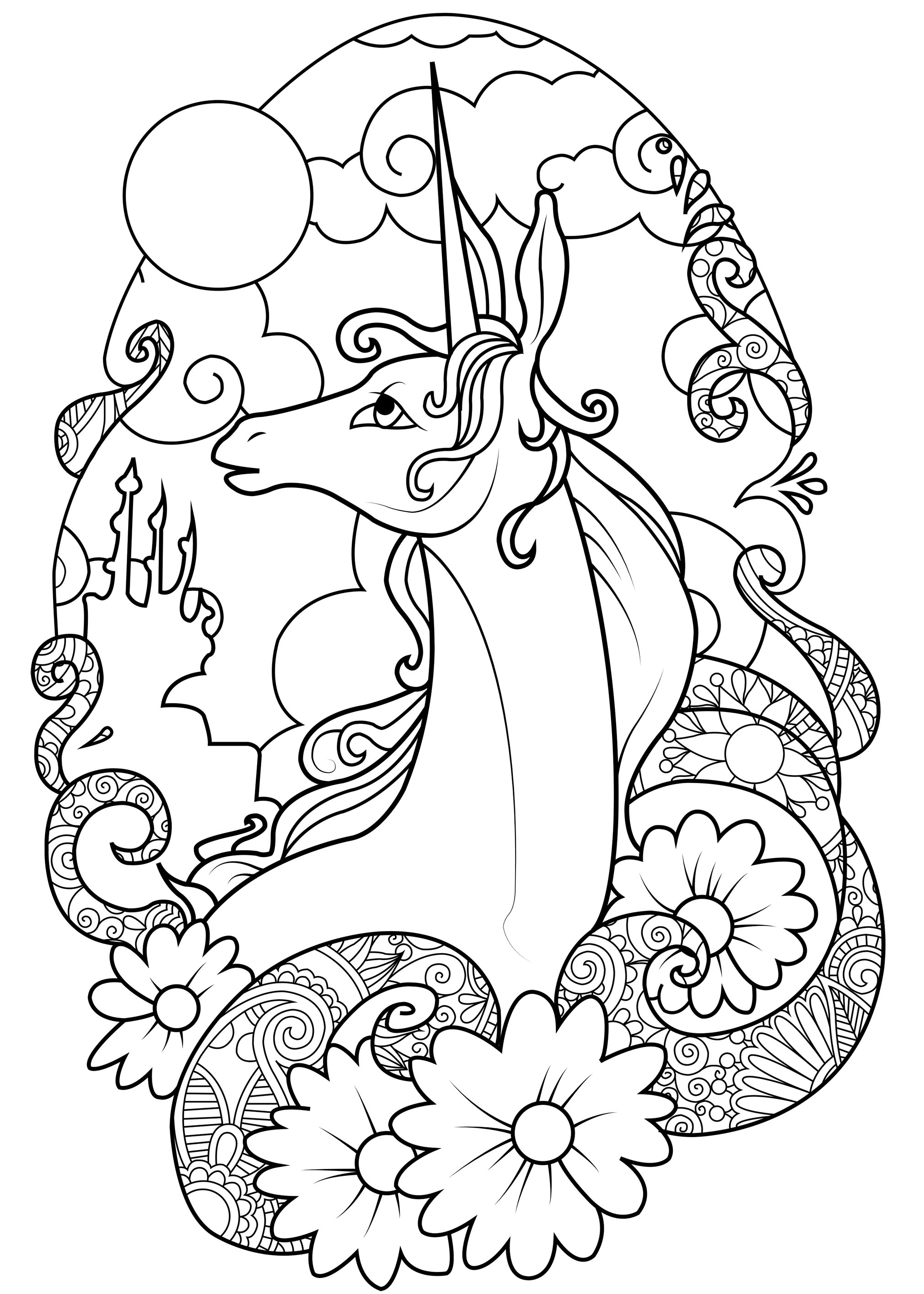 unicorn printables print download unicorn coloring pages for children printables unicorn