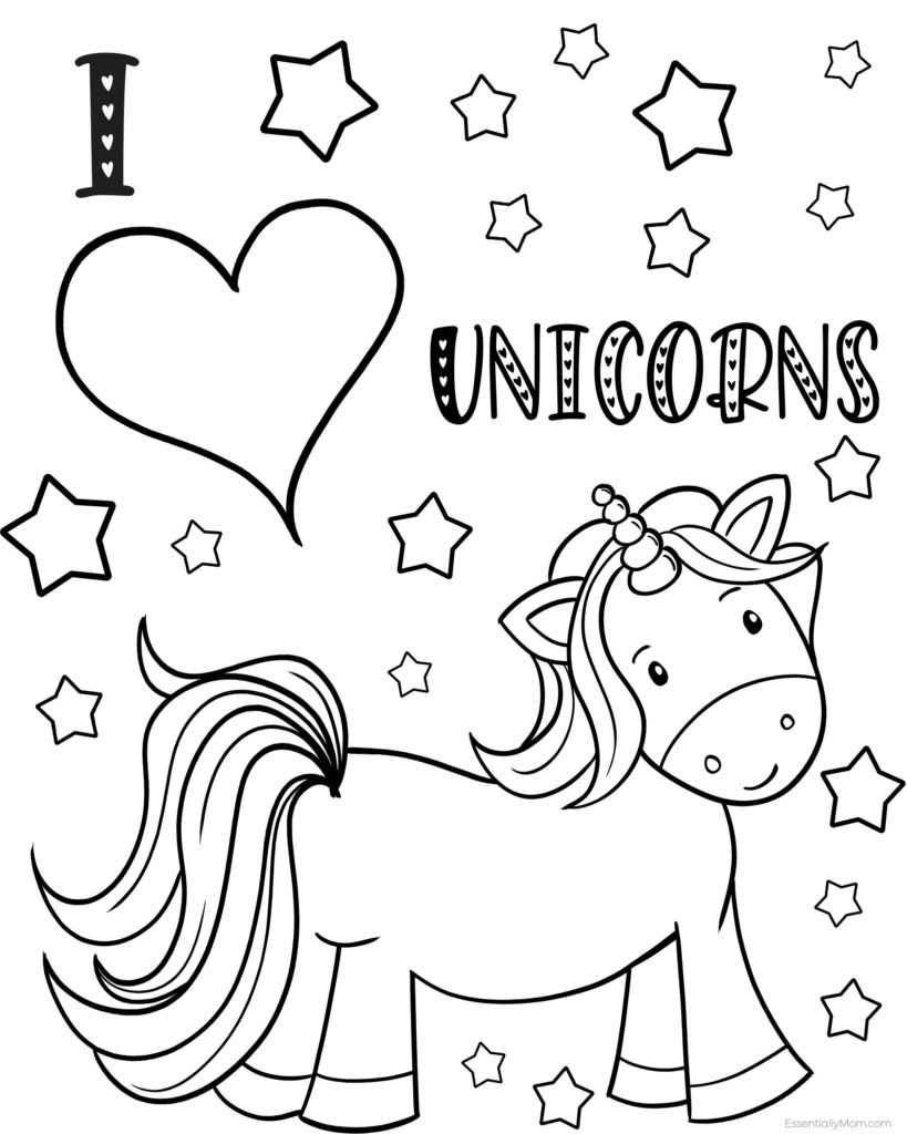 unicorn printables unicorn coloring pages free download on clipartmag unicorn printables 1 1