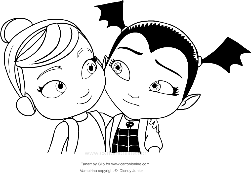 vampirina coloring pictures easy vampirina coloring pages for wolfie and baby nosy pictures coloring vampirina