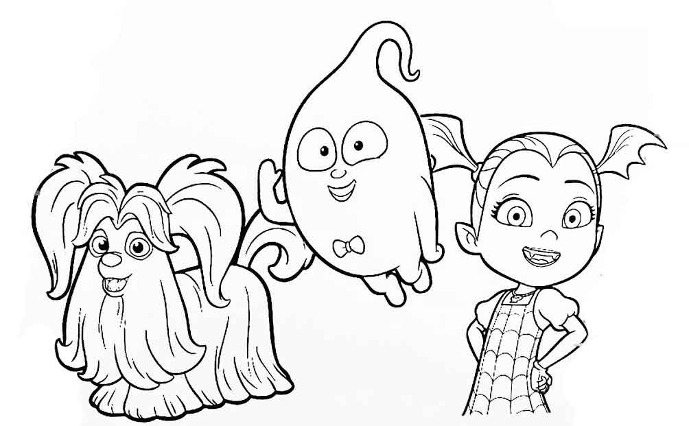 vampirina coloring pictures vampirina coloring pages outline image free printable coloring vampirina pictures