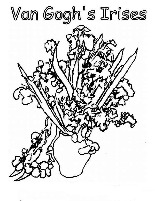 van gogh sunflowers coloring page 85 best sunflower coloring page van gogh images on van sunflowers gogh page coloring