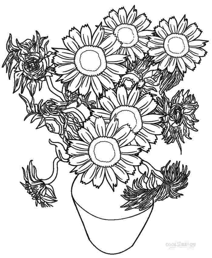 van gogh sunflowers coloring page sunflower coloring pages pictures whitesbelfast coloring gogh van sunflowers page