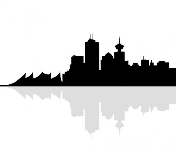 vancouver skyline drawing auto draw 2 coal harbour downtown vancouver skyline vancouver skyline drawing