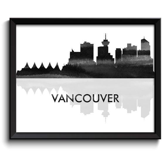 vancouver skyline drawing vancouver canada skyline digital art by michael tompsett vancouver drawing skyline