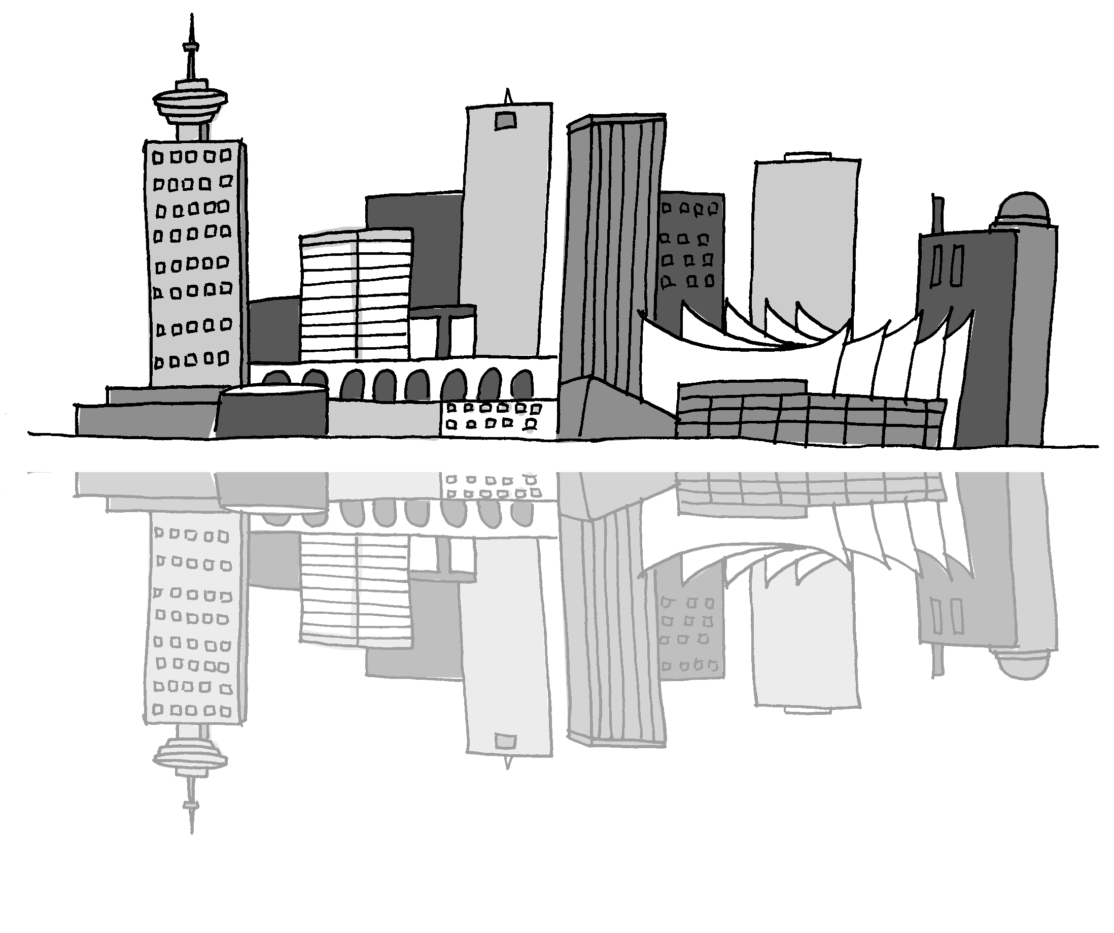 vancouver skyline drawing vancouver island bc west coast landscape inspiring vancouver skyline drawing