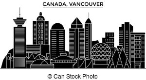 vancouver skyline drawing vancouver skyline city icon vector art design stock vector drawing skyline vancouver