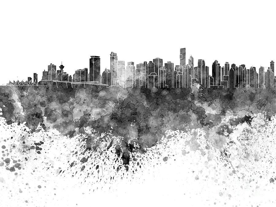 vancouver skyline drawing vancouver skyline silhouette design city vector art stock skyline drawing vancouver