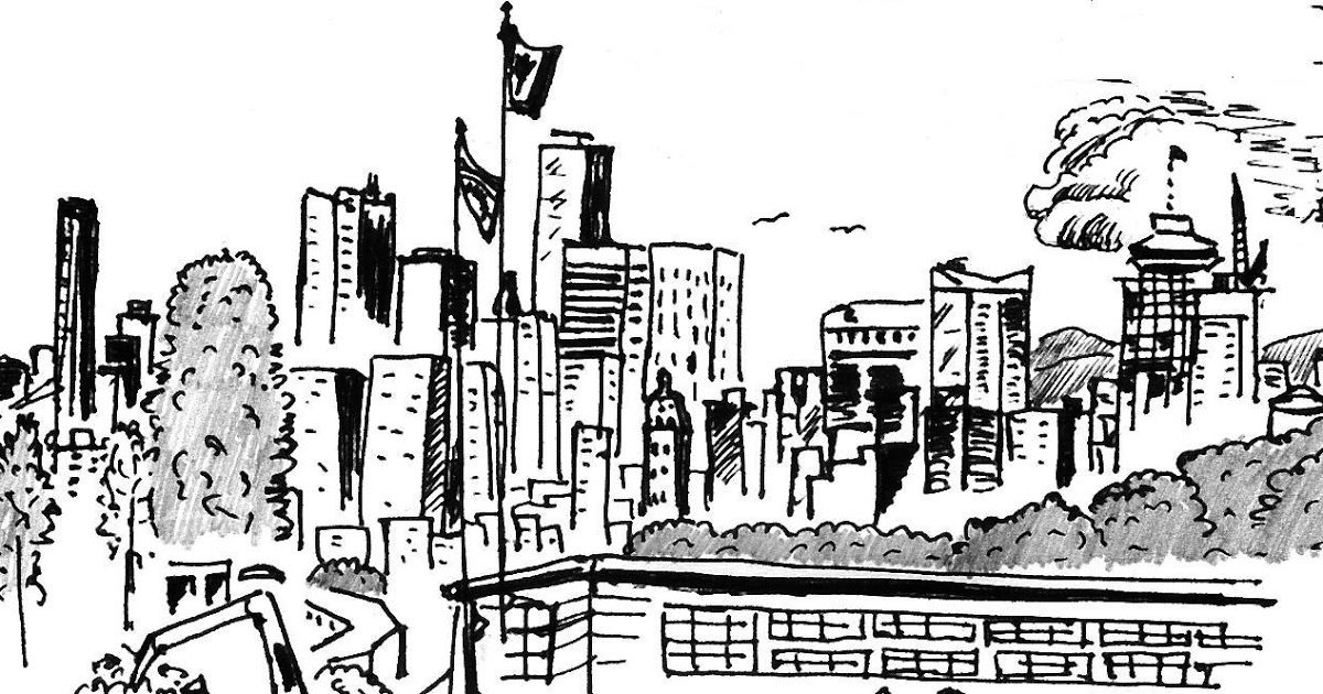 vancouver skyline drawing vector vancouver silhouette skyline with canadian stock skyline drawing vancouver