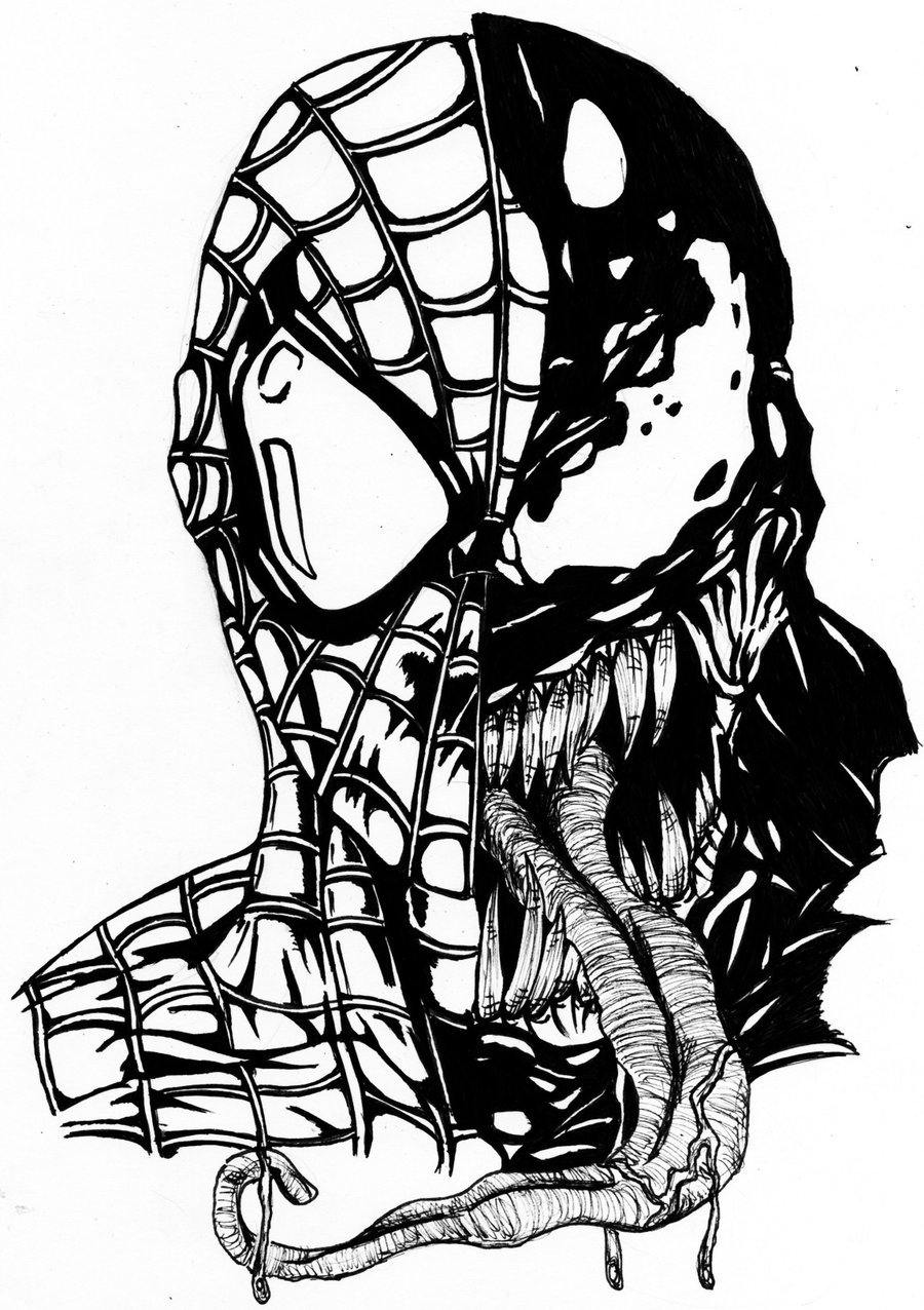 venom face coloring pages spiderman outline drawing at getdrawings free download face pages coloring venom